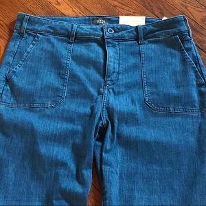 Nydj straight leg blue jeans